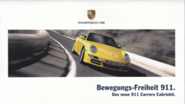 911 Carrera Cabriolet brochure, 22 smaller pages, 12/2004, German language