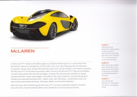 P1 sportscar, 4 page brochure with magnetic close, German language, about  2016