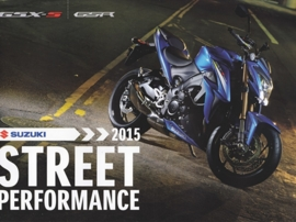 Suzuki Street Performance brochure, 16 pages, #99999-STPUB-A15, 2015, Dutch language
