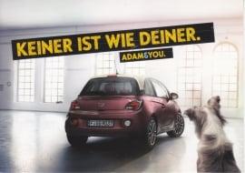 Adam postcard, Edgar freecard, # 16.853, German language