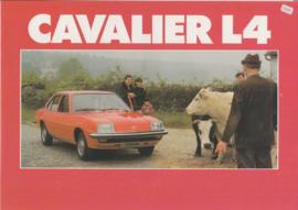 Cavalier Sedan L4, 4 pages, Dutch language, about 1979