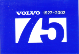 Volvo 75 years - 1927-2002, sticker, 10 x 7 cm