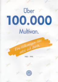Multivan brochure, 8 pages,  A4-size, German language, 1995