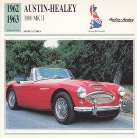 Austin-Healey 3000 Mk II card, Dutch language, D5 019 01-16