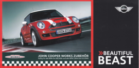 John Cooper Works accessories brochure, 6 pages, German language, about 2011
