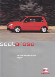 Arosa specs. & prices brochure, 4 pages, 06/1999, Dutch language