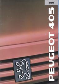 405 Break brochure, 32 pages, A4-size, 1989, Dutch language