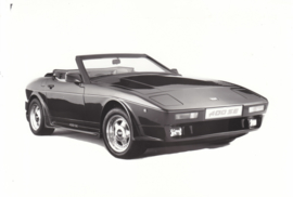 TVR 400 SE wedge convertible - factory photo - about 1990
