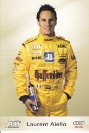 TT with racing driver Laurent Aiello, unsigned postcard 2003 season, German language