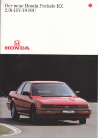 Prelude EX 2.0i-16V-DOHC brochure, 8 pages, A4-size, German, about 1989