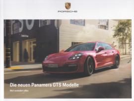 Panamera GTS brochure, 36 large pages, 10/2018, German language