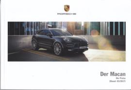 Macan pricelist brochure, 116 pages, 03/2017, German language