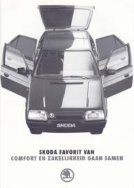 Favorit Van brochure, 4 pages, Dutch language, about 1989