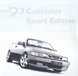9-3 Cabriolet Sport edition leaflet, 2 pages, about 2006, Dutch language, # 640300