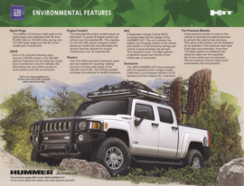 H3T environmental features leaflet, 2 pages, 2009, USA, English language