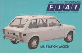128 Station Wagon, standard size, US postcard, 1973