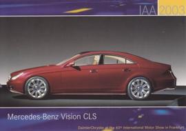 Mercedes-Benz Vision CLS, A6-size postcard, IAA 2003