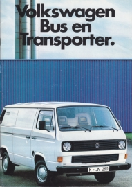 Bus & Transporter brochure, 40 pages,  A4-size, Dutch language, 08/1985