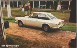 124 Sport Coupe, standard size, US postcard, about 1971