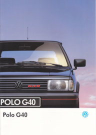 Polo G40 brochure, A4-size, 16 pages, Dutch language, 01/1993