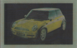 New Mini Cooper lenticular card, small size,  USA, about 2000