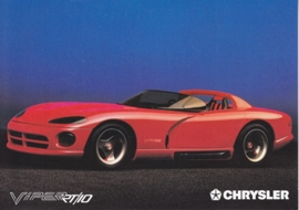 Viper RT/10 concept car, A6-size postcard, about 1992, issue Chrysler Germany