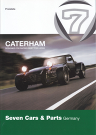 Caterham Seven program brochure, 6 pages, about 2009, German language