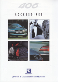 406 accessories brochure, 16 pages, A4-size, 08/1999, Dutch language