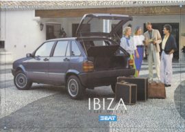Ibiza 5-Door brochure, 8 pages, Dutch language, 1987