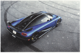 Agera HH, A6-size postcard, factory-issued, English text, 2013