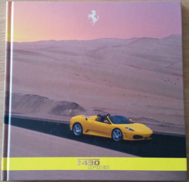 F 430 Spider brochure, square, large, 96 pages, hard covers, 2239/05, Italian & English language