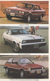 Imports by Mitsubishi, large US postcard, 12,5 x 20 cm, 1979