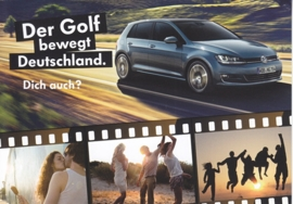 Golf, A6-size postcard, German, 2014