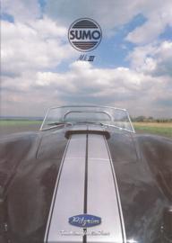 Pilgrim Sumo Mk III Cobra replica brochure, 8 pages, 1999, Dutch/German language