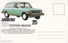 128 Station Wagon, standard size, US postcard (# 7548)