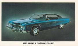 Impala Custom Coupe,  US postcard, standard size, 1973