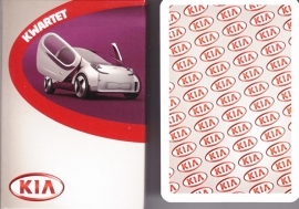 Kia cars, 48 different cards in cardboard cover, Dutch issue, about 2012
