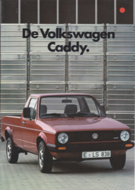 Caddy Pick-up brochure, 12 pages,  A4-size, Dutch language, 10/1983