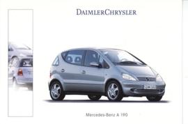 Mercedes-Benz A 190, A6-size postcard, Geneva 2001