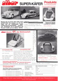 Albar Buggies & Super Beetle leaflet, 2 pages, about 1990, German language