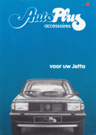 Jetta accessories (Zubehör) brochure, 4 pages,  A4-size, Dutch language, 1984