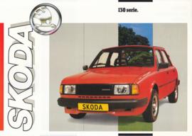 130 Serie 4-Door Sedan leaflet, 2 pages, Dutch language, about 1985