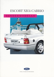 Escort XR3i Cabriolet brochure, 8 pages, 09/1988, German language