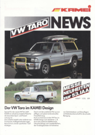 Taro Kamei Design leaflet, A4-size, 2 pages, German language, 09/1989
