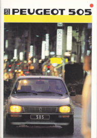 505 Sedan brochure, 30 pages, A4-size, 1986, Dutch language