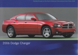 Dodge Charger 2006, A6-size postcard, NAIAS 2005