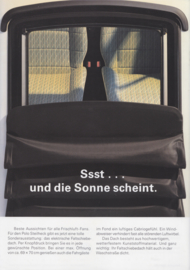Polo Beach with large sunroof leaflet, 2 pages,  A4-size, German language, 4/90