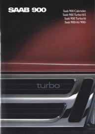 900 model brochure, 62 pages, 1989, German language, # 250472