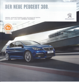 308 pricelist brochure, 16 pages, German language, 06/2017