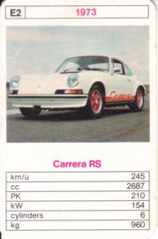 911 Carrera RS - 1973 - card # E2 - size 10 x 6,5 cm